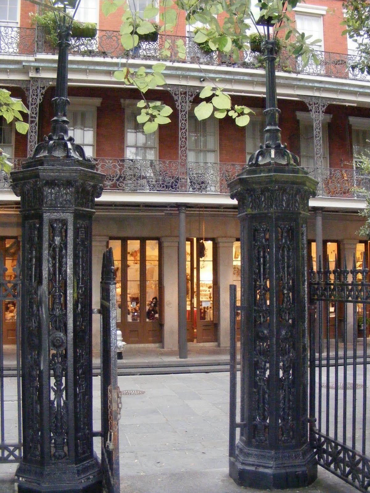 Gates Of Jackson Square Opening To One Of The Pontalba