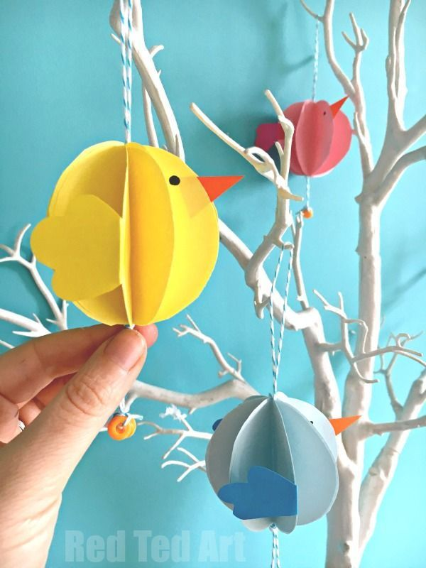 Easy Paper Chick Craft Chick Easter Decoration Easter Spring
