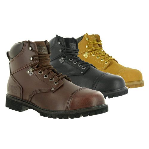 Rugged Blue RB2 Steel Toe Work Boots