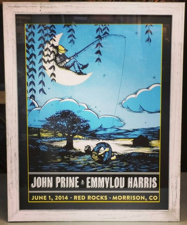 john prine emmylou harris red rocks print using an acid free colorcore mat and a rustic universal arquati frame beautiful custom framed by fastframe of