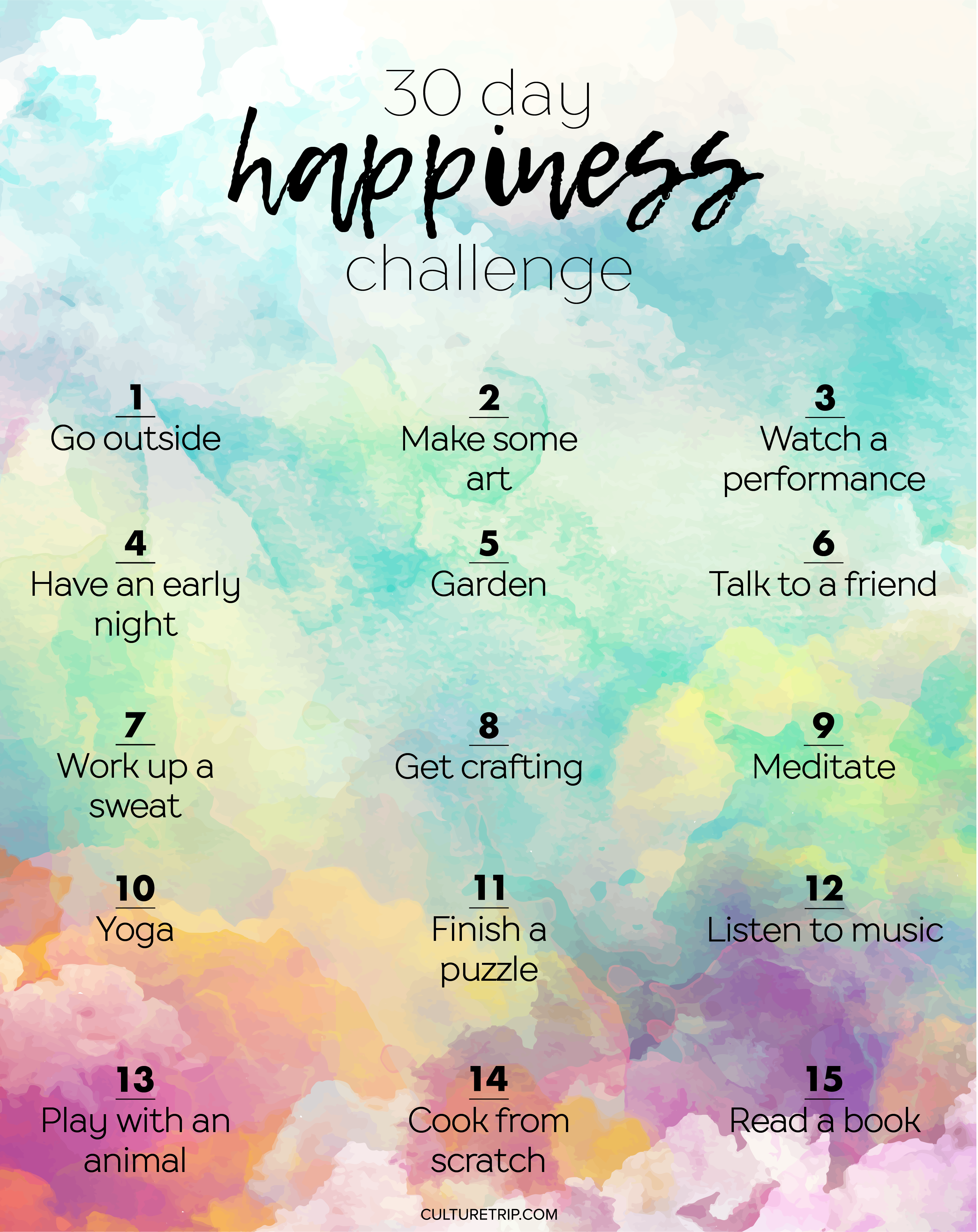 The 30 Day Happiness Challenge