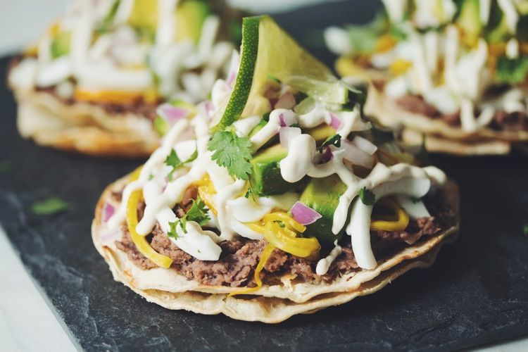 vegan ceviche tostadas (young coconut & summer squash) | RECIPE on hotforfoodblog.com