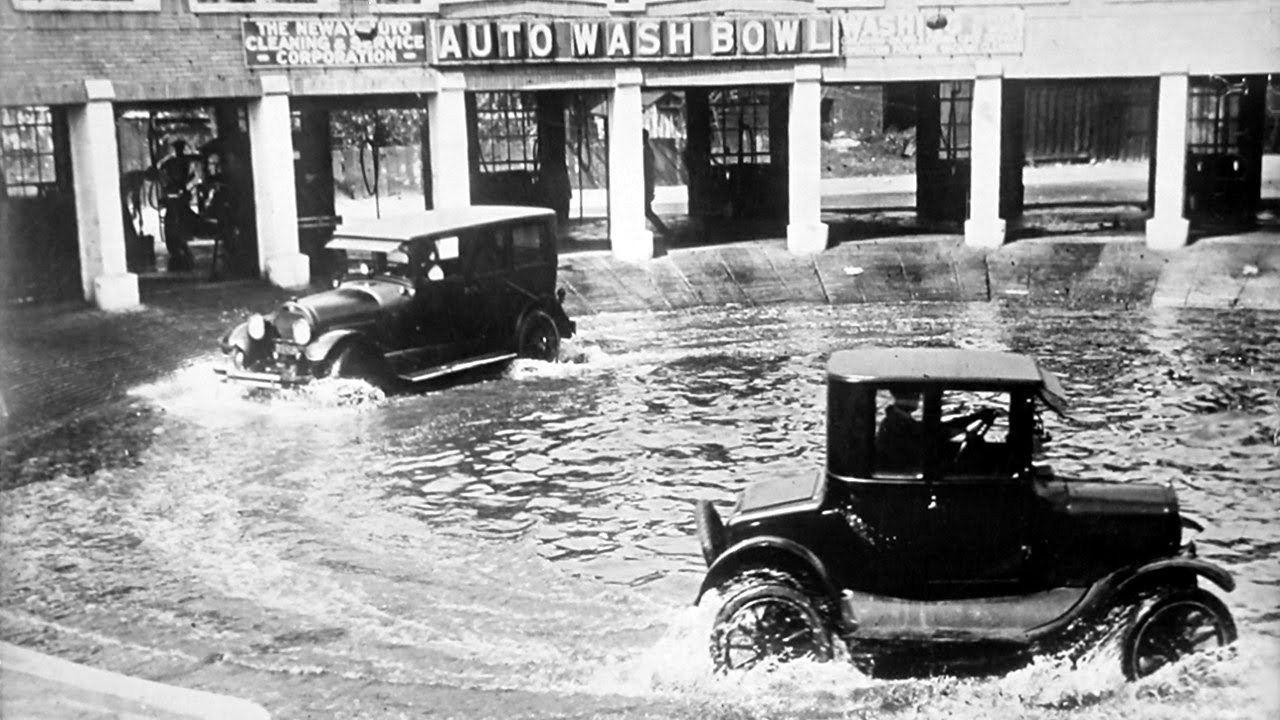 Auto Wash Bowl by Underwood Archives Car wash, Old