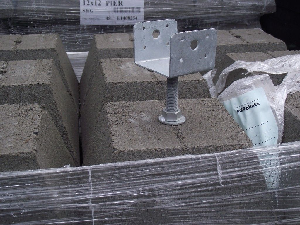 """12"""" pier block with 4x4 Hot Dipped Galvanized adjustable"""