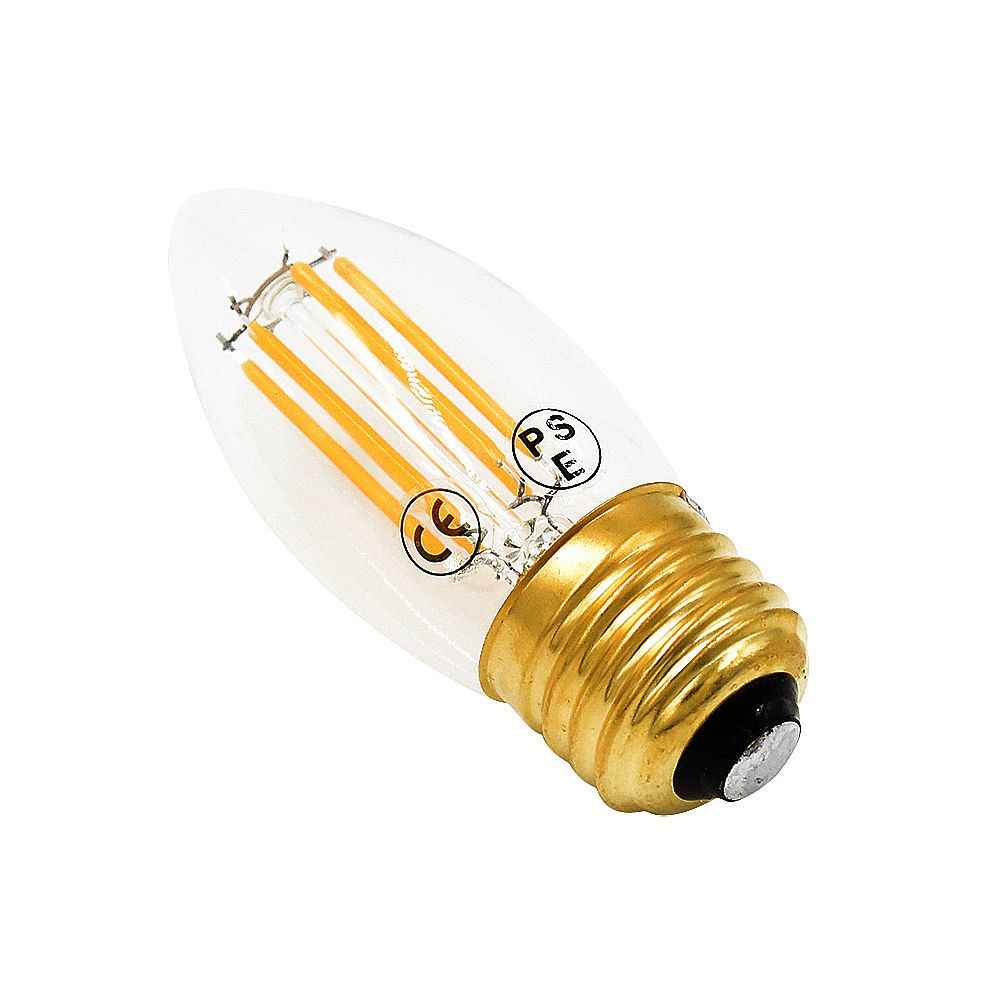 Stariver led filament chandelier light bulb w c candle light bulb