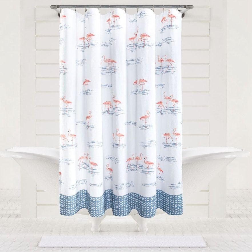 Sonoma Goods For Life Flamingo Shower Curtain In 2020 Flamingo