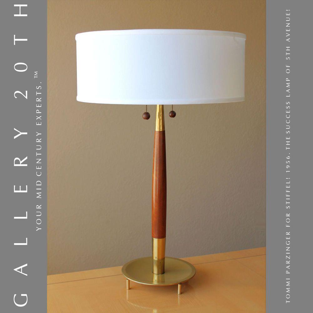 SUCCESS! MID CENTURY MODERN TEAK STIFFEL LAMP! Atomic ...