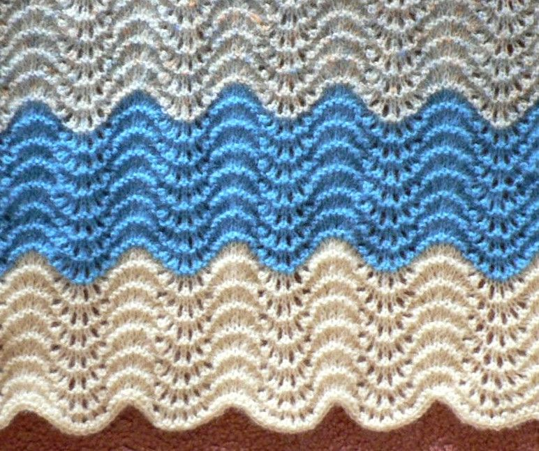 Knit Baby Blanket Yarn Lover S Room Knit One Purl Two Repeat