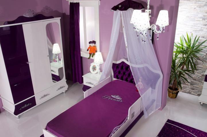 Prinses Kinderkamer Set : Kinderkamer prinses meisjeskamer paars kinderbed prinsessenkamer