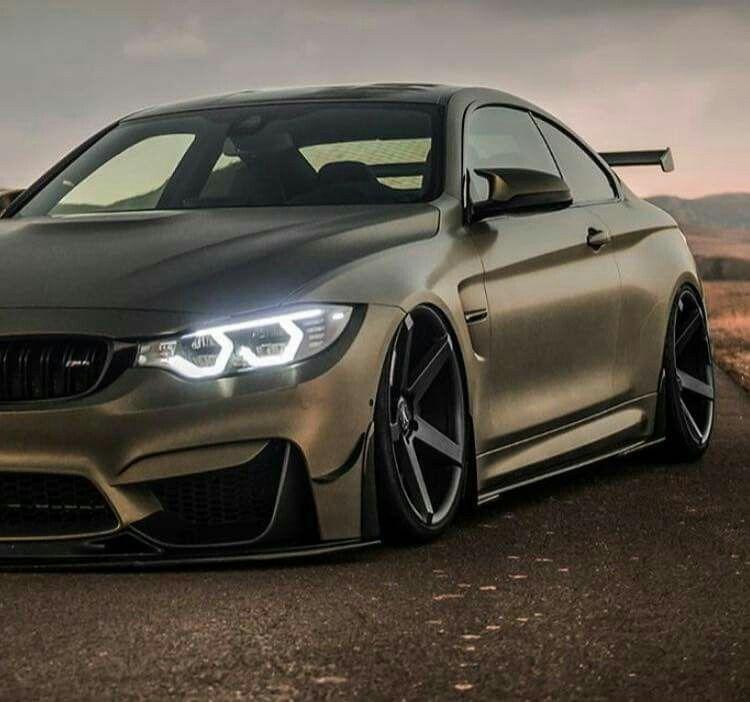 Bmw X6 Tuning: BMW Z-Performance F82 M4 Matte Green Slammed