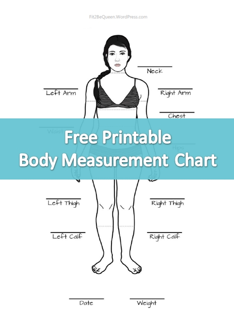 Free Printable Body Measurement Chart Perfect For Tracking Weight