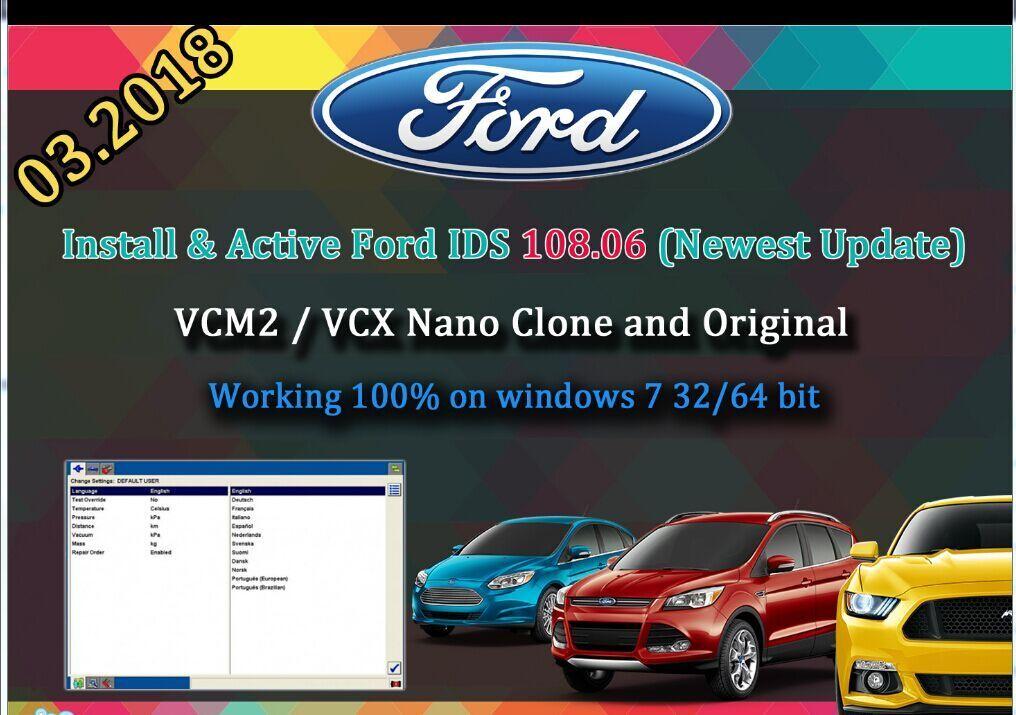 Download Ford VCM IDS V108 06 Software Skype: obd2tuner com