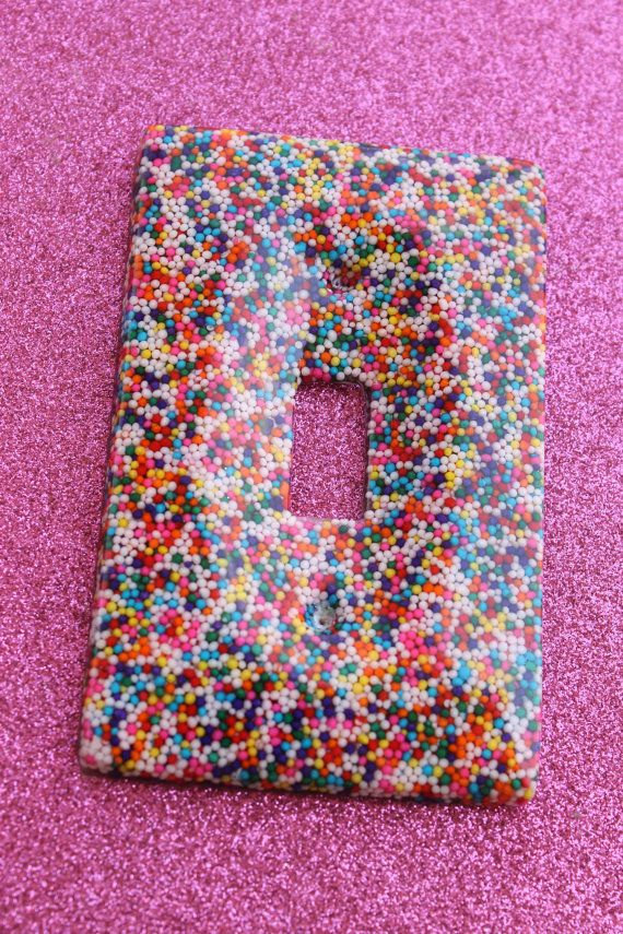 Candy Sprinkle Resin Light Switch Cover Handmade By Tranquilityy