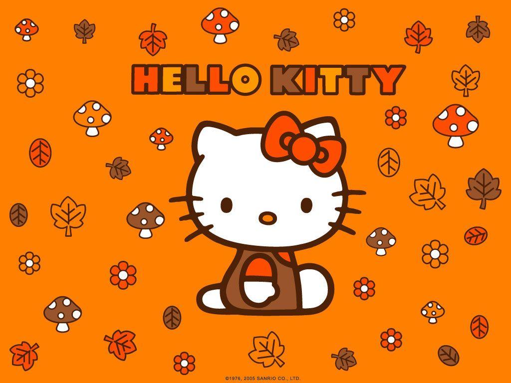 Hello Kitty Autumn Leaves Wallpaper Cute Wallpapers Hello Kitty Halloween Hello Kitty Halloween Wallpaper Hello Kitty Art