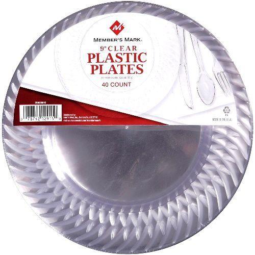 Amazon.com Member\u0027s mark Clear Plastic Plates 9\  40 Count Health \u0026 Personal Care  sc 1 st  Pinterest & Member\u0027s mark Clear Plastic Plates 9\