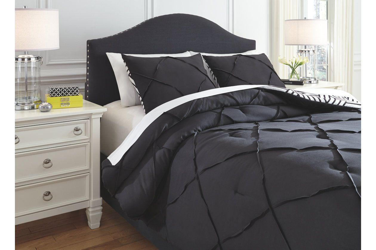Jaylee 3 Piece Queen Comforter Set Ashley Furniture Homestore Comforter Sets Black Comforter Sets King Comforter Sets