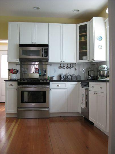 Brittany\u0027s New Bright White Portland Kitchen kitchen Pinterest