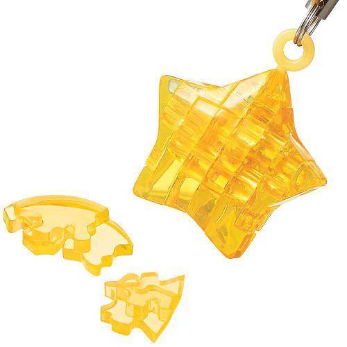 3d Crystal Puzzle Mini Star 12 Pcs 3d Crystal Puzzle Keychain Stars