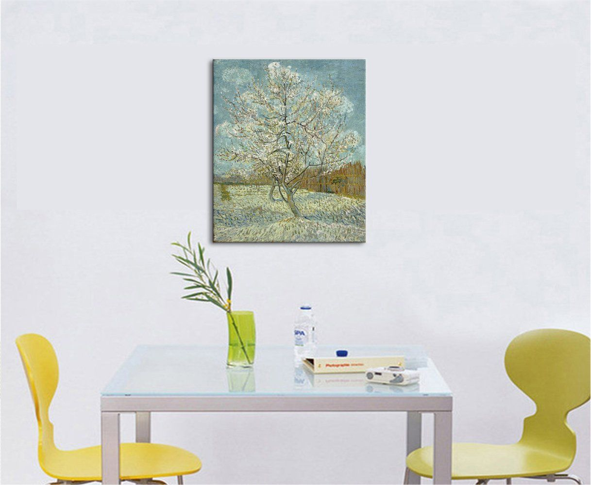Peach Tress oil Paint By Van Gogh Re Print On Framed Canvas Wall Art Home Decor