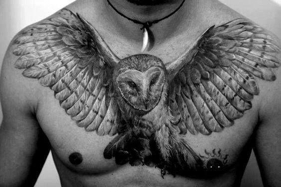 60 Barn Owl Tattoo Designs For Men Lunar Creature Ink Ideas Owl Tattoo Chest Owl Neck Tattoo Mens Owl Tattoo