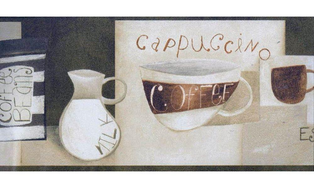 White Milk Coffee CU78235 Wallpaper Border Wallpaper