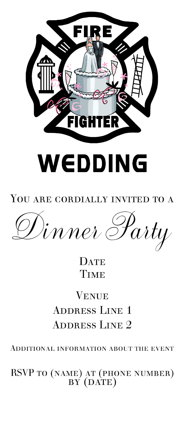 Firefighter Wedding Invitations | Bridal showers, Firefighter ...