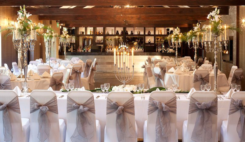 Idees Mariage Deco Salle Mariage Blanc Gris Centres Tables