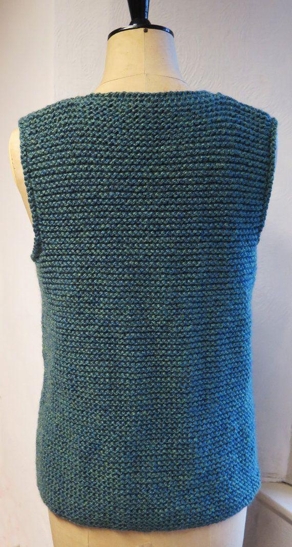 Gilet Knitting Pattern, Waistcoat knitting pattern, Knitted ...