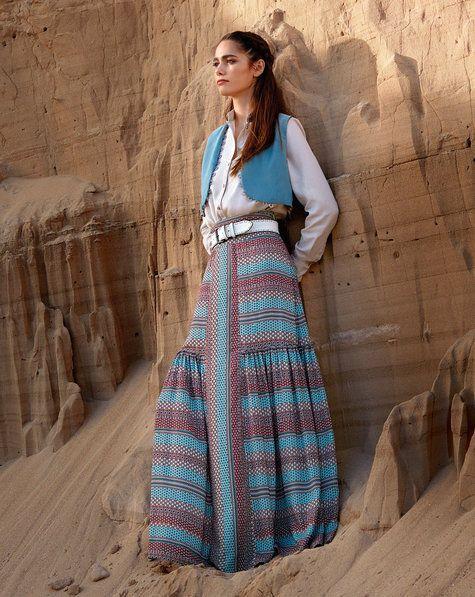 Tiered Boho Maxi Skirt 04/2017 #102A