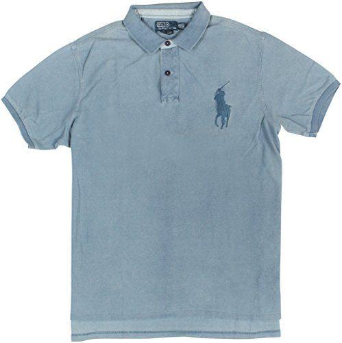 POLO RALPH LAUREN Polo Ralph Lauren Men'S Custom-Fit Indigo Big Pony Polo. #poloralphlauren #cloth #
