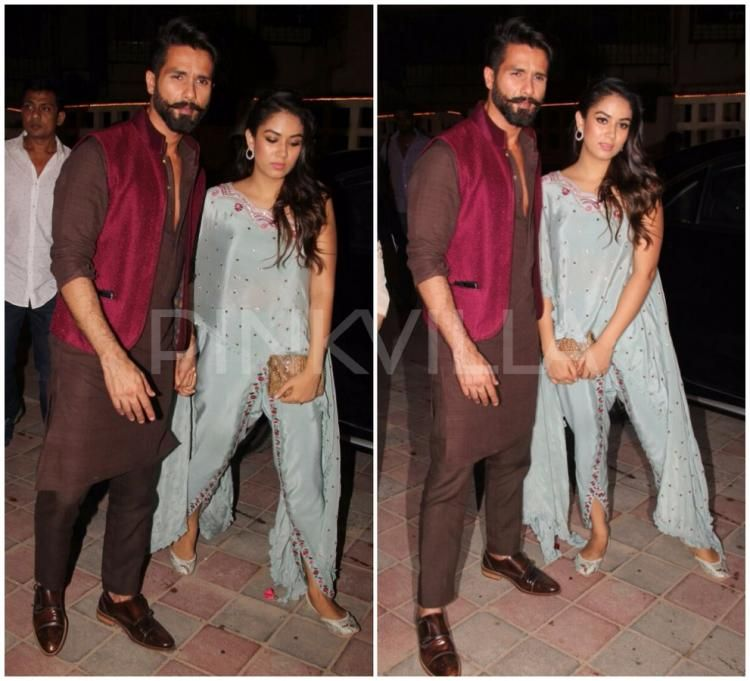 08d62da90248 Photos  Lovebirds Shahid Kapoor and Mira Rajput snapped at a Diwali ...