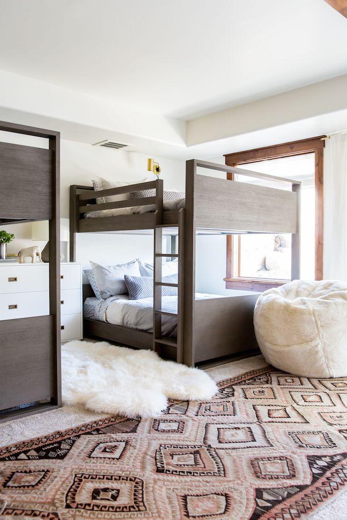 Heber Project Modern Bunk Room Becki Owens Modern Bunk Beds Rustic Kids Rooms Bunk Rooms