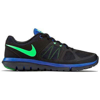 Nike Flex 2014 Rn Msl Mens 642800028 Black Blue Green Running Shoes Size 10