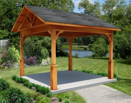 10 X 10 Cedar Gable Ramada Pergola Patio Diy Pergola Backyard