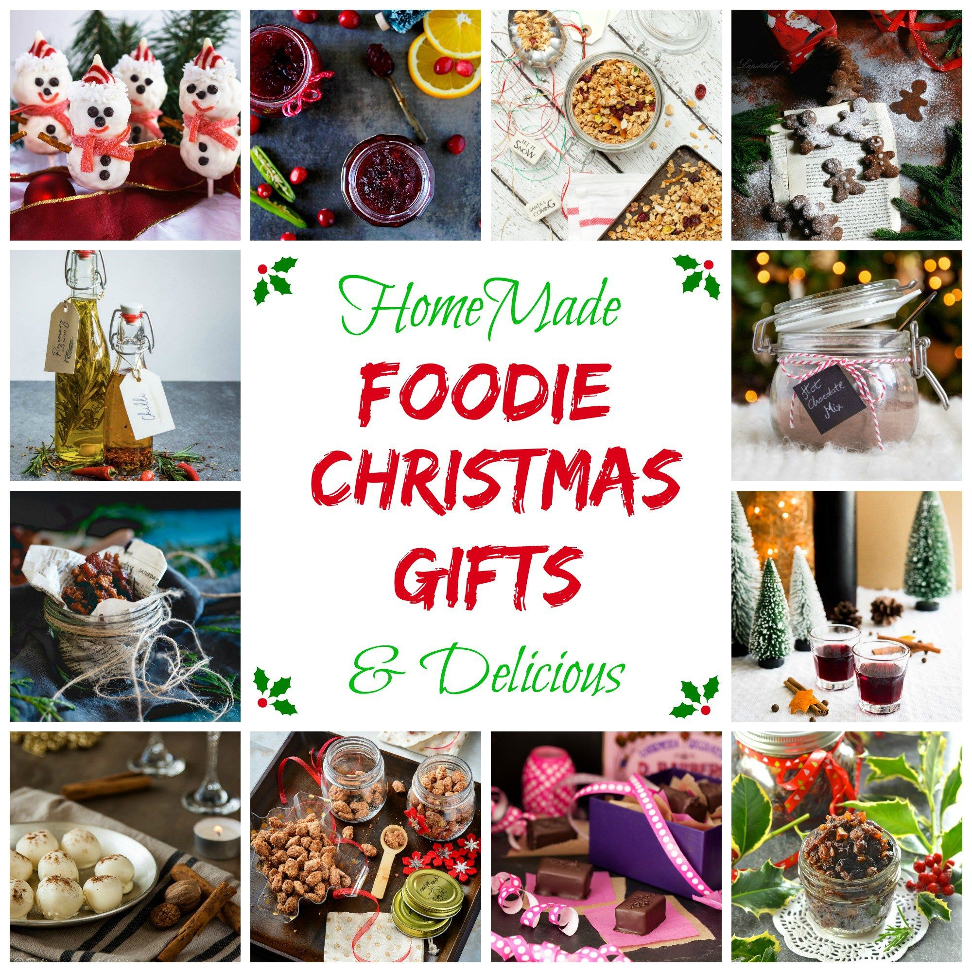Christmas food gifts pinterest