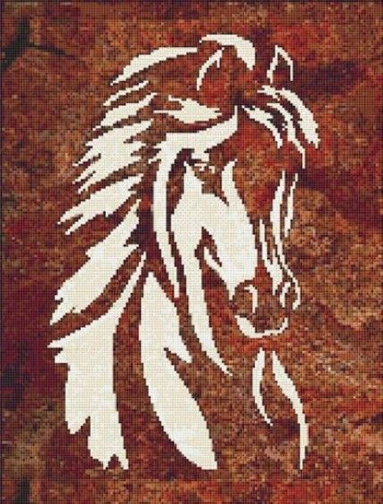 Horse Head Counted Cross Stitch Pattern 440 Shipping PDF Format
