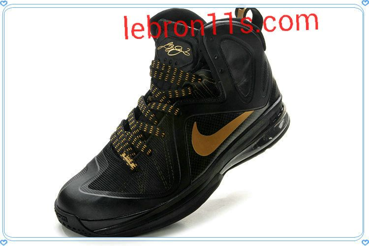 buy popular 752a4 ff3fe Cheap Lebrons Shoes Lebron 9 Elite Away Black Gold 516958 002