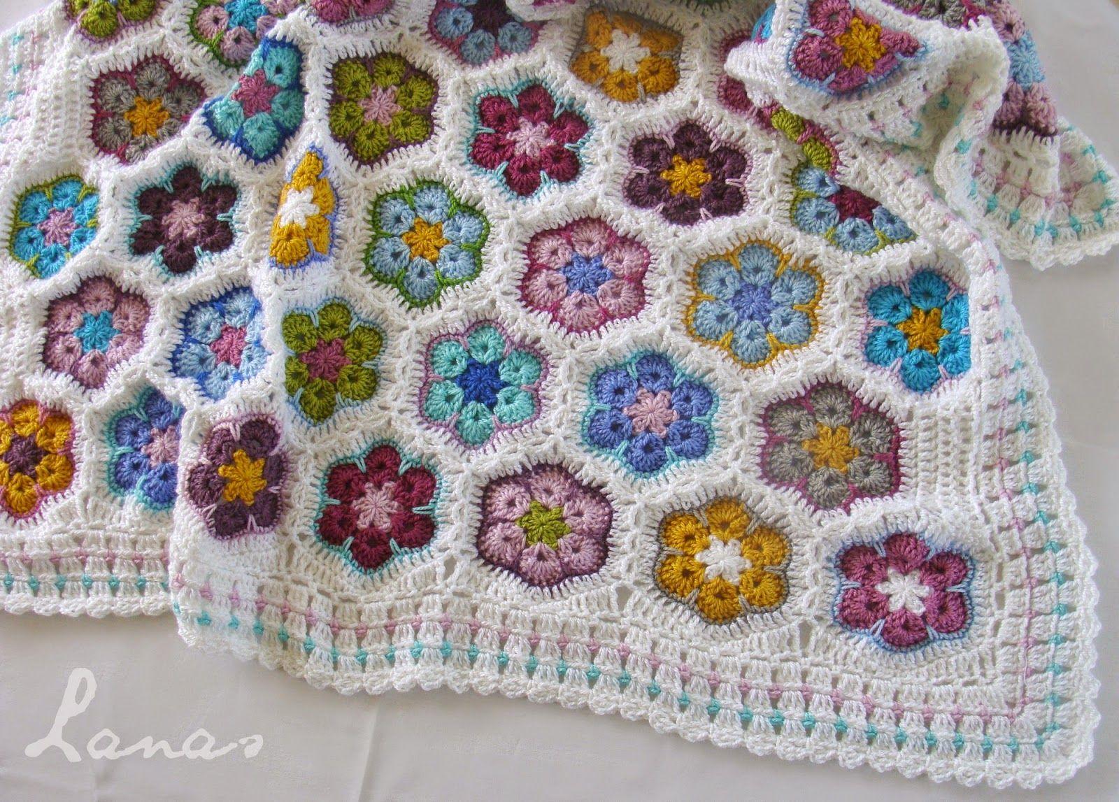 Lanas de Ana: blanket / frazada | Croche | Pinterest