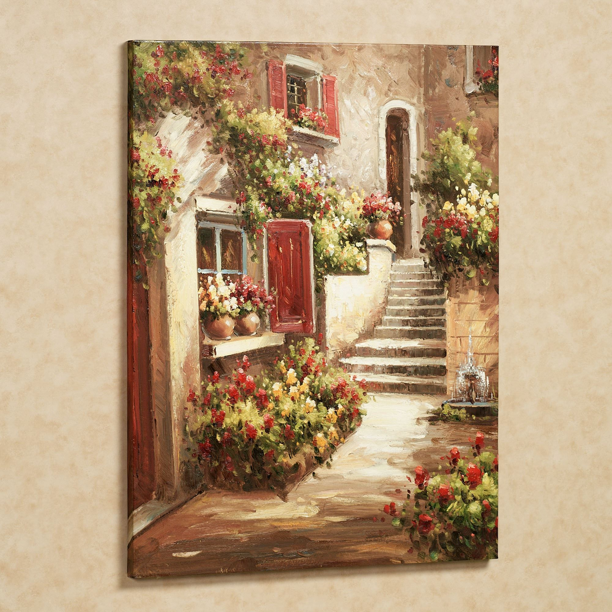 Tuscan flowers canvas wall art pinterest flower canvas tuscan