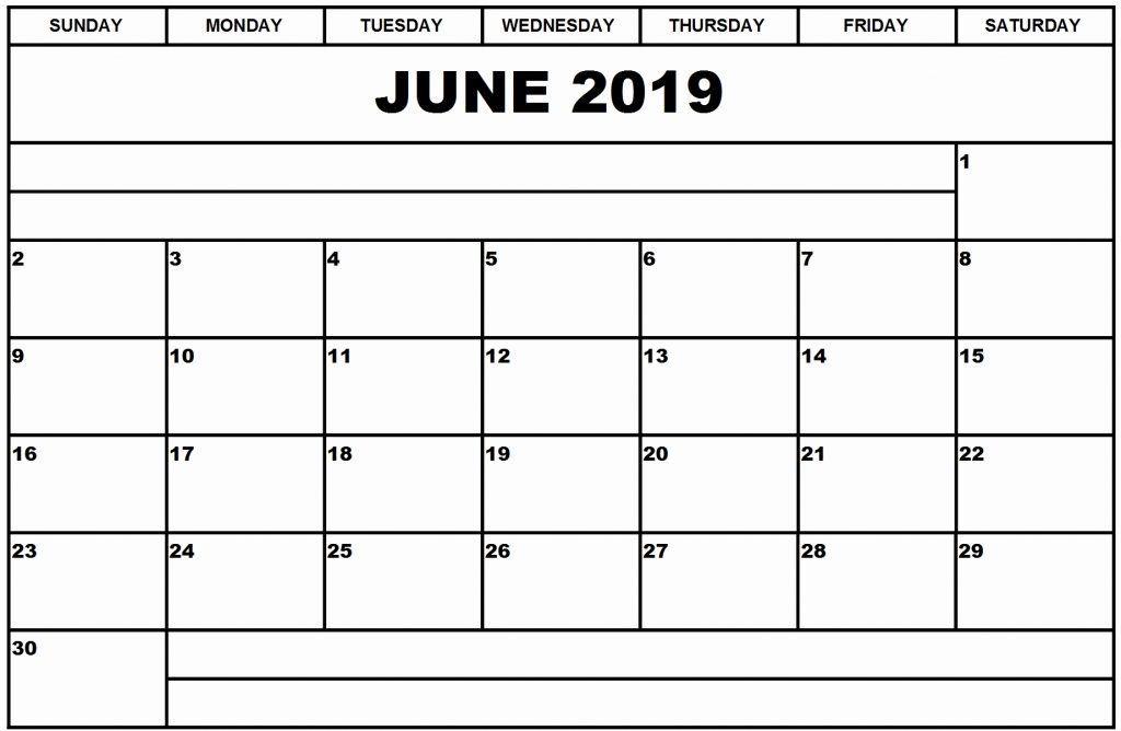 June 2019 Calendar Printable June June2019 June2019calendar