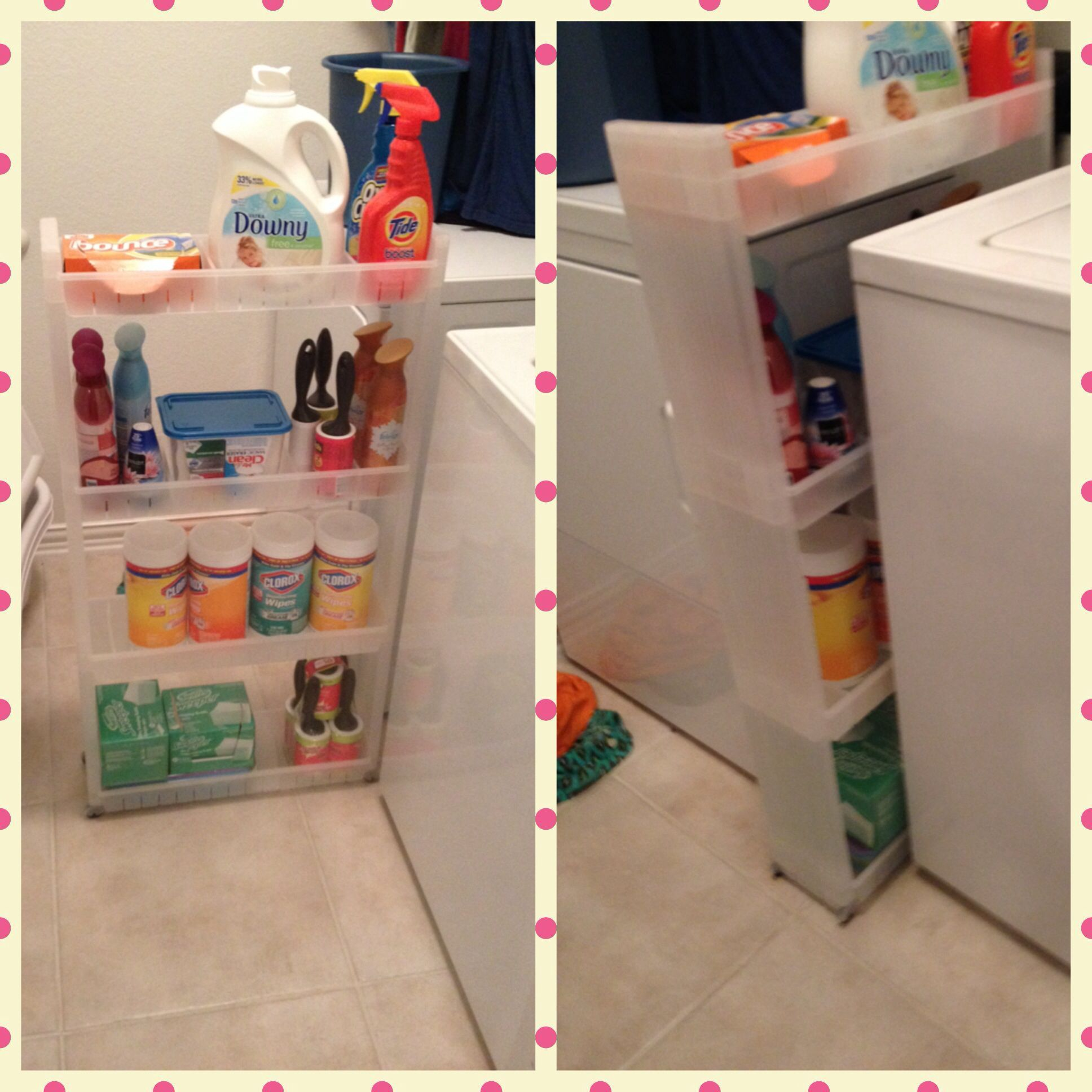Skinny Rolling Cart Found At The Container Store For 30 Great