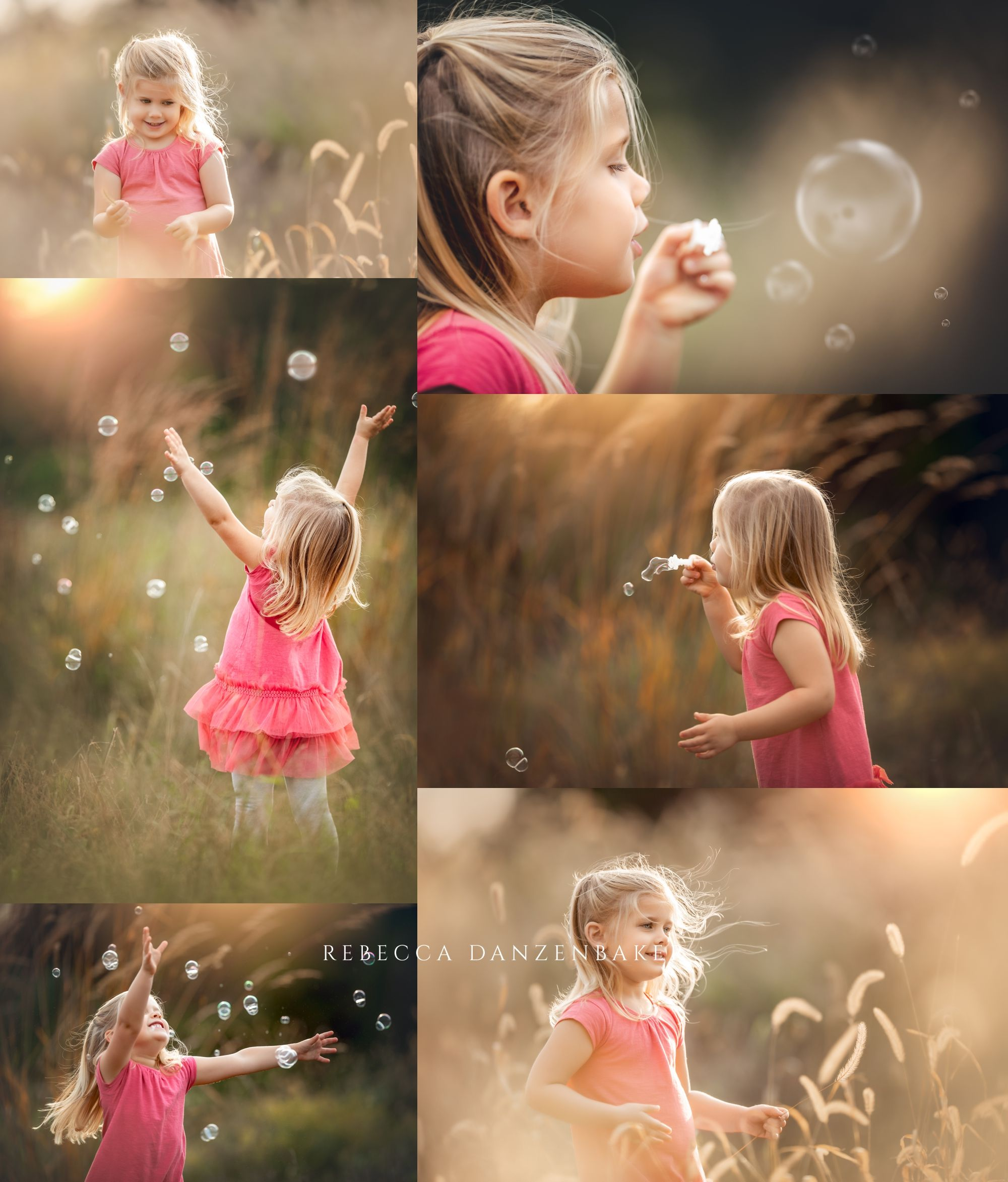 Family photos with bubbles in Northern Virginia