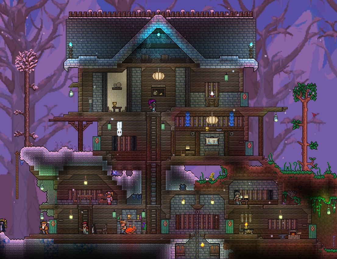 Very large winter house. Terraria Houses Pinterest