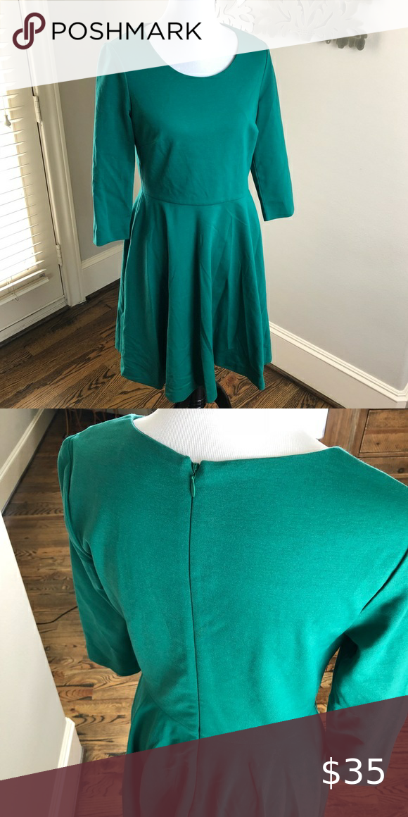 Boden NWOT Green Skater Dress Sz US 10