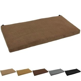 Blazing Needles 42-inch Microsuede Indoor Bench Cushion | Bench ...