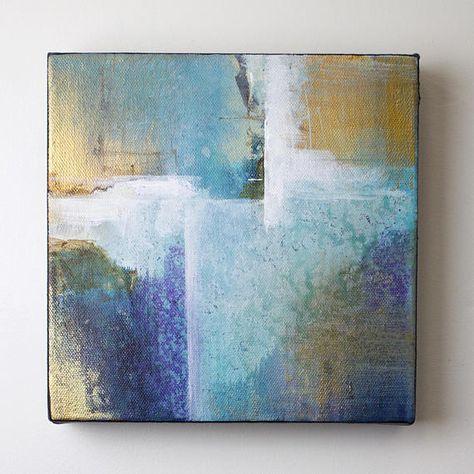 Abstrakt Acryl Art Paintng Auf Leinwand Dies Ist Eine In Einer
