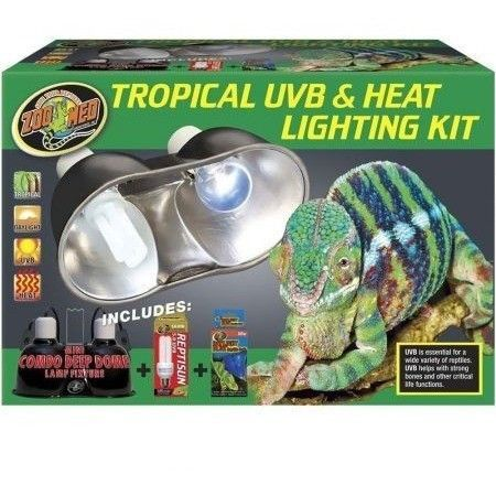 Zoo Med Tropical Uvb Heat Lighting Kit Products Reptile Lights Reptile Supplies Lights