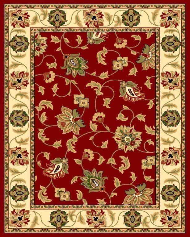 1005 Burgundy Ivory Oriental Black Green Fl Area Rug Carpet New 5x7 8x11