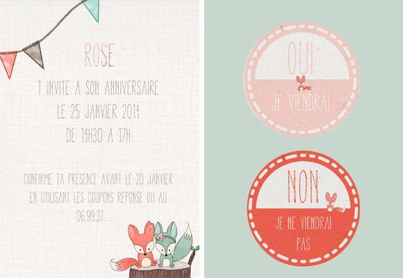 invitation anniversaire bébé fille