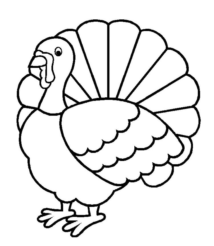 Turkey Coloring Page Without Feathers Google Twit Regarding Turkey